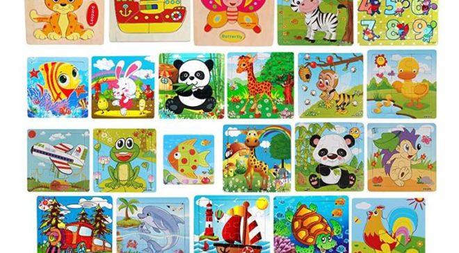 0,01€ puzzles bois pour enfant