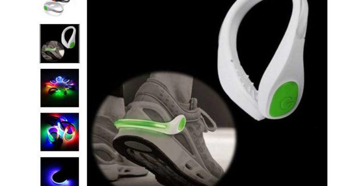 0,82€ le clip LED lumineux pour chaussure