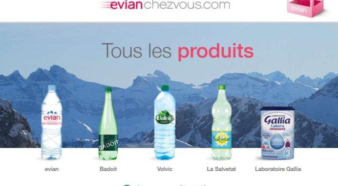 1 pack Evian offert 6x50cl pour toute commande sur Evian chez vous