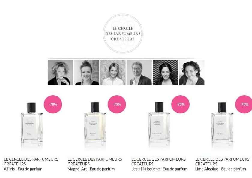 10,53€ eau de parfum Le Cercle des Parfumeurs Créateurs 75ml