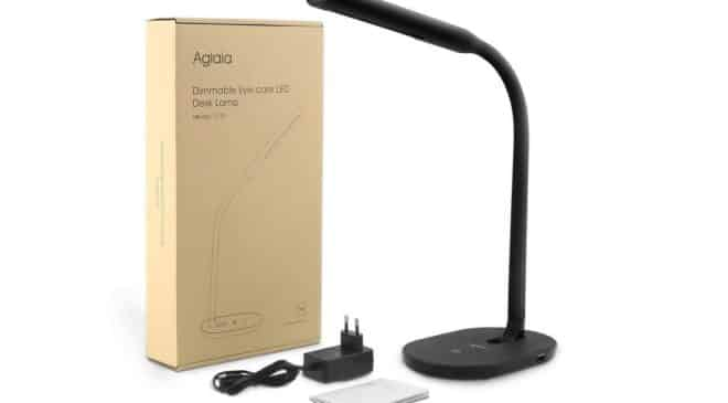 14,39€ lampe de bureau avec port USB de charge bouton tactile 3 intensités