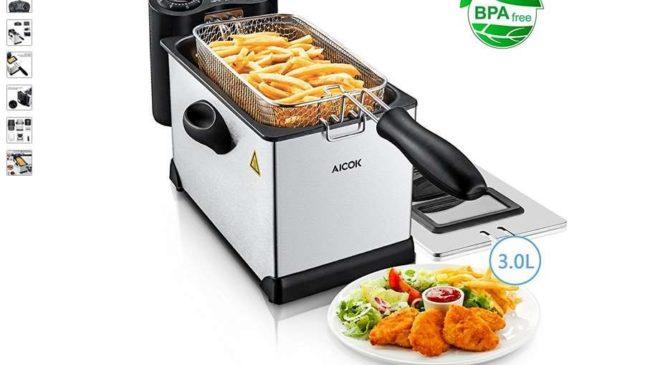29,99€ friteuse professionnelle INOX 3L Aicok port inclus