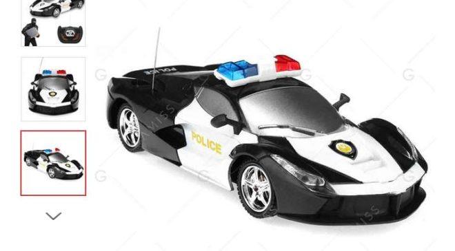 4,53€ le véhicule de police télécommandé port inclus