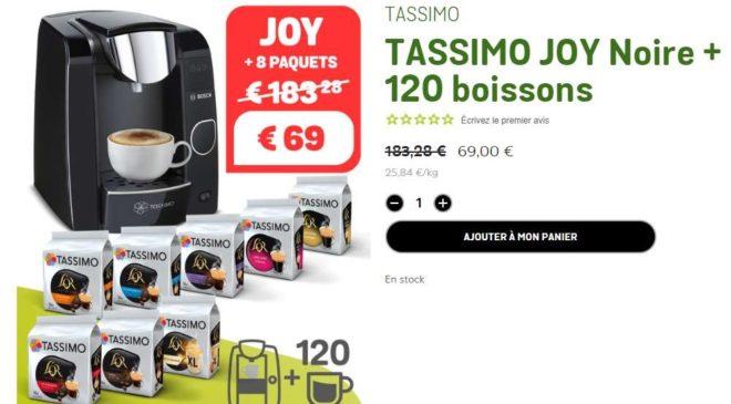 69€ la machine Tassimo Bosch Joy + 120 boissons