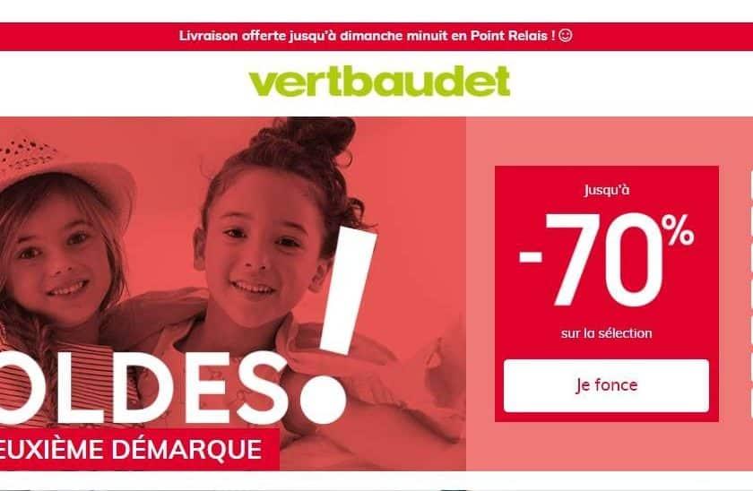-70% et livraison gratuite sur les soldes Vert Baudet