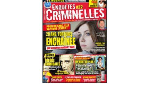 Abonnement magazine Enquêtes Criminelles pas cher