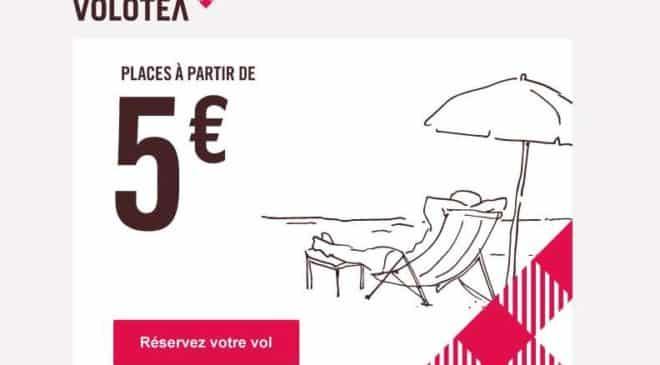 Achetez maintenant votre billet d'avion à partir de 5€ sur Volotea