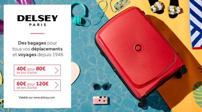 Bon d'achat bagages Delsey moitié prix