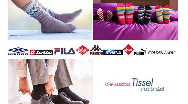 Bon plan chaussettes pas chères : à partir de 0,5€ + livraison gratuite sur Tissel (dont marques)