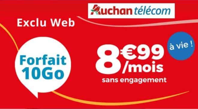 Forfait Auchan Telecom 10GO