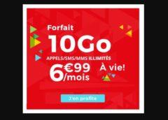 Forfait Auchan Telecom 10GO à 6,99€/mois à VIE (Appels+SMS+MMS illimités)