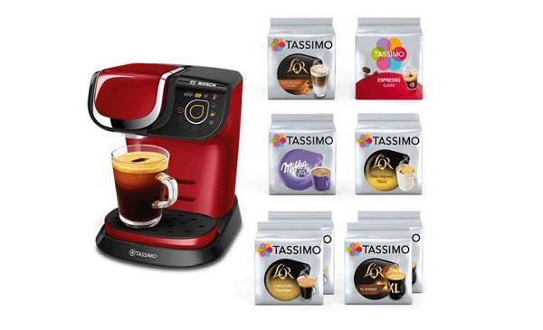 Machine MY WAY Tassimo Bosch + 8 paquets de capsules