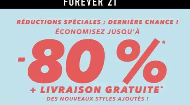 Promotions Forever 21 et livraison offerte