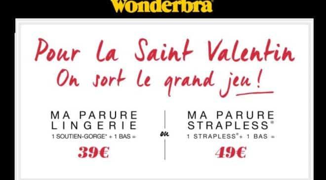 Saint Valentin : 39€ la parure Wonderbra