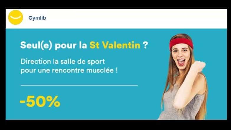 Saint Valentin Gymlib - code promo