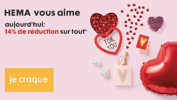 Saint Valentin Hema code promo