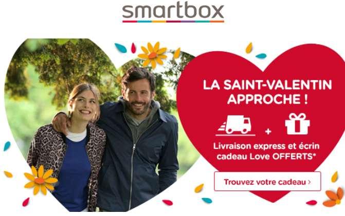 Saint Valentin SmartBox livraison express gratuite et écrin cadeau Love offert
