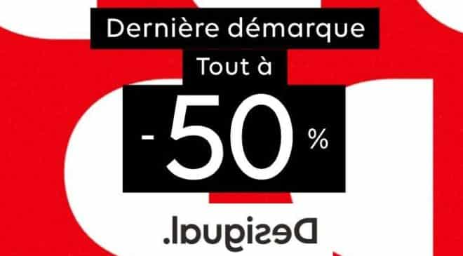 Soldes Desigual tout à -50% pour les derniers jours