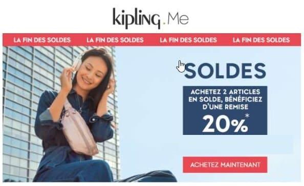 Soldes Kipling Jusqu'à 50% + 20% Suppl. Dès 2 Articles