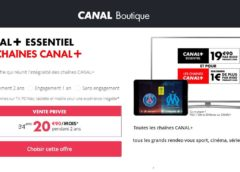 Vente Privée Canal Plus : 20,9€/mois Canal+ Essentiel + les chaînes Canal+ (pendant 2 ans) au lieu de 34,9€