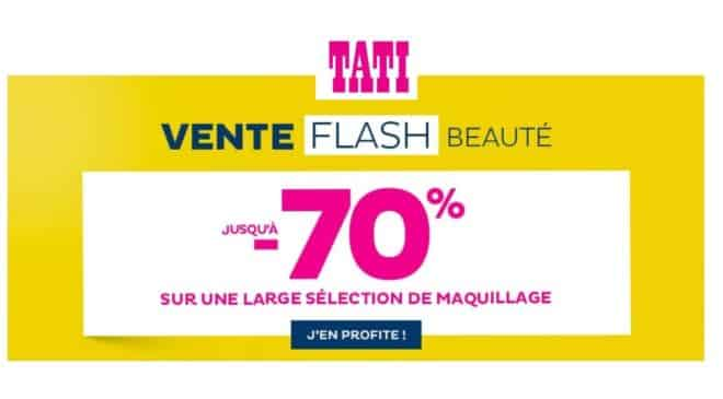 Vente flash beauté Tati