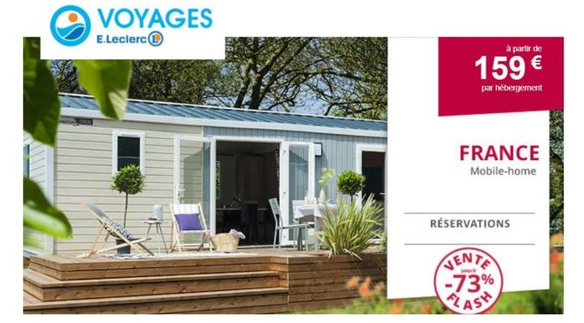 Vente flash mobil-home Leclerc Voyages