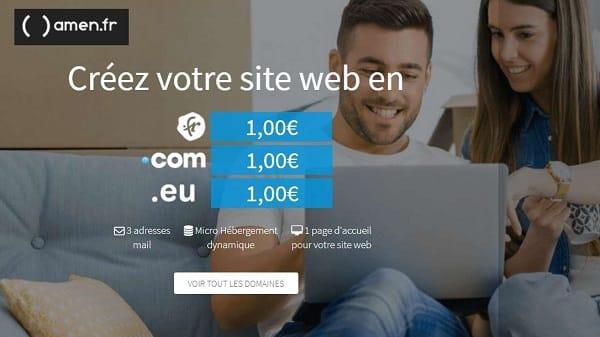 Webmaster 1€ Le Nom De Domaine .com .fr .eu Avec Micro Hébergement Au Lieu De 29,88€