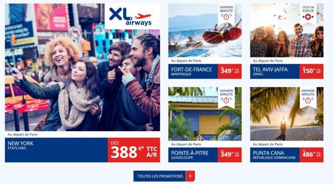 les offres spéciales XL Airways voyagez loin pour pas cher