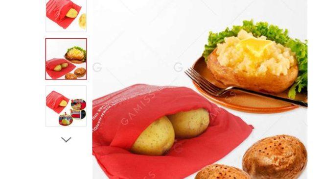 sac cuisson pomme de terre au micro-ondes pas cher