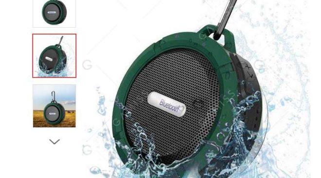 seulement 3.64€ enceinte Bluetooth Waterproof Army