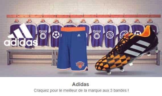 vestes, maillots, survêtements Adidas adultes de 5€ à 7€