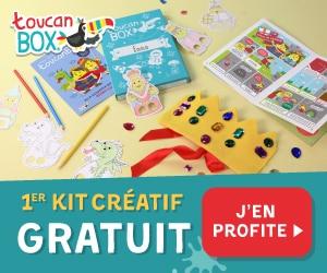 1 Kit Creatif gratuit TOUCANBOX