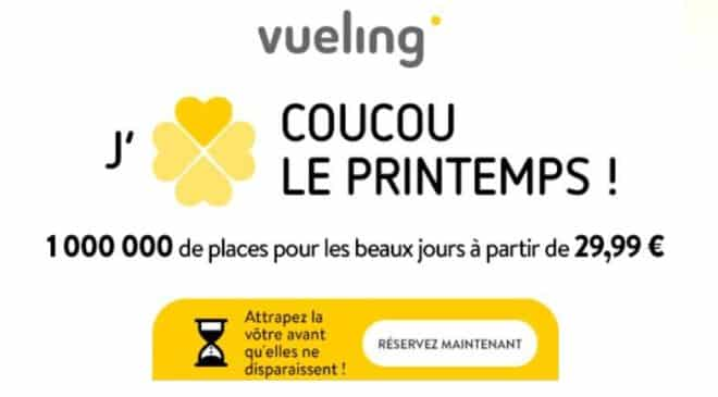 1 million de billets Vueling à partir de 29,99€