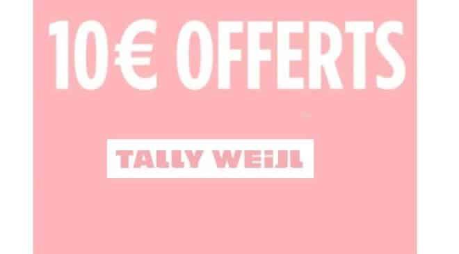 10€ de remise sur Tally Weijl