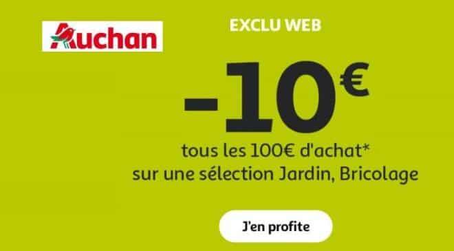 10€ de remise sur les articles jardin Auchan