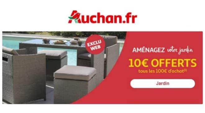 10€ de remise sur les articles jardin Auchan tous les 100€