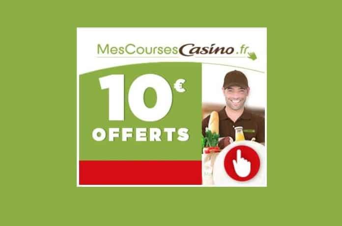-10€ dès 60 € d'achat sur Mes Courses Casino