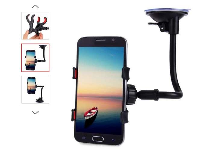 1,54€ le support pour smartphone ventouse 360 degrés
