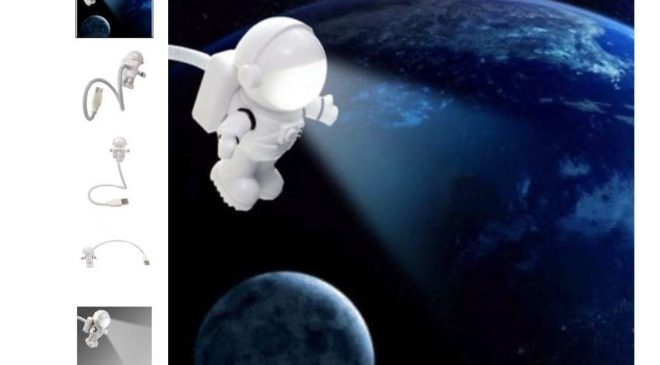 1,63€ la lampe Astronaute USB flexible