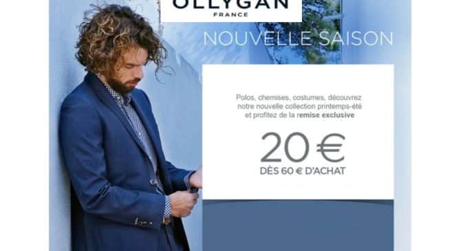 20€ de remise sur Olly Gan (mode homme)
