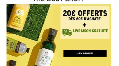 20€ de remise sur The Body Shop