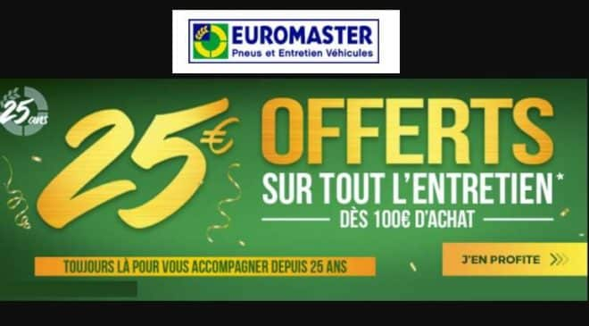 25€ de remise sur l'entretien auto Euromaster