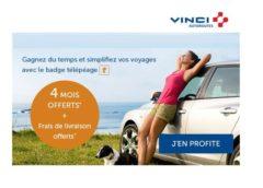 4 mois d'abonnement Télépéage gratuit (VINCI Autoroutes) + livraison gratuite