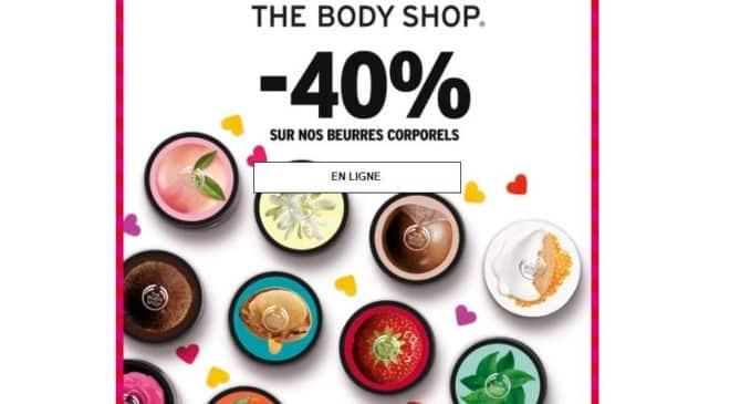 40% de remise sur tous les beurres The Body Shop