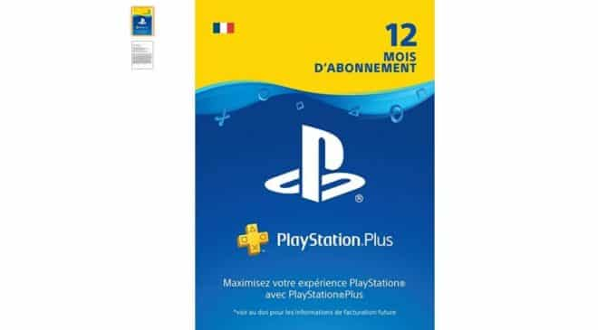 44,99€ la carte abonnement Playstation Plus 1an