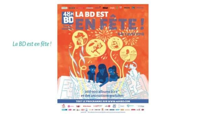 48H BD 2018 cette année le 6 et 7 avril 200 000 albums au prix de 2€