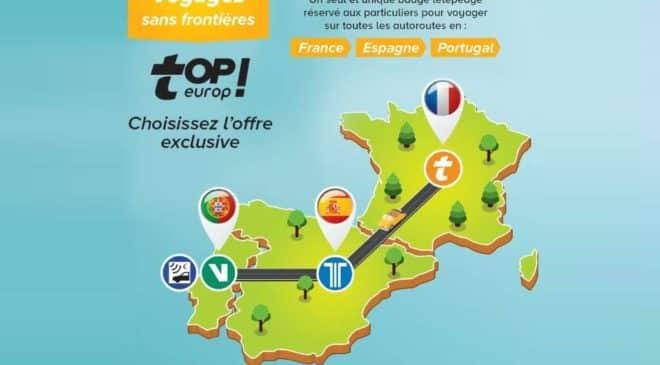 5€ le badge télépéage topEurop AREA