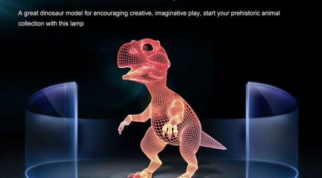 6,55€ la lampe 3D Dinosaure (7 couleurs) port inclus