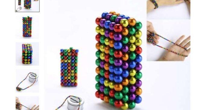 8,19€ les 216 billes colorées magnétiques (antistress) livraison gratuite