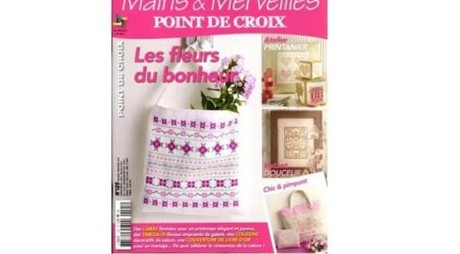 abonnement magazine mains et merveilles point de croix pas cher 14 5. Black Bedroom Furniture Sets. Home Design Ideas